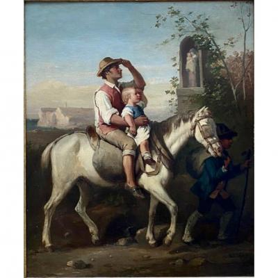Genre Scene 19th Louis Lanfant De Metz