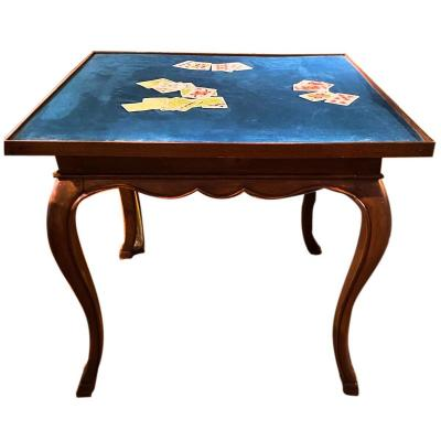 Large Louis XV Walnut Games Table 18th Century Transition