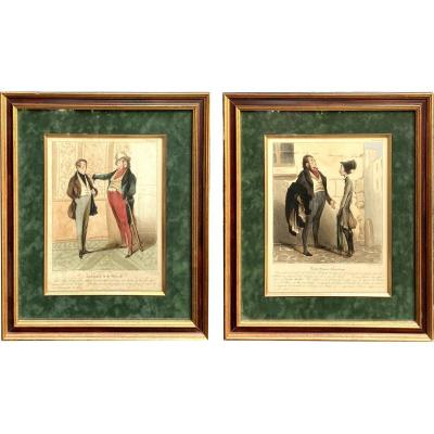 Two Lithographs From The Caricaturana Series By Honoré Daumier