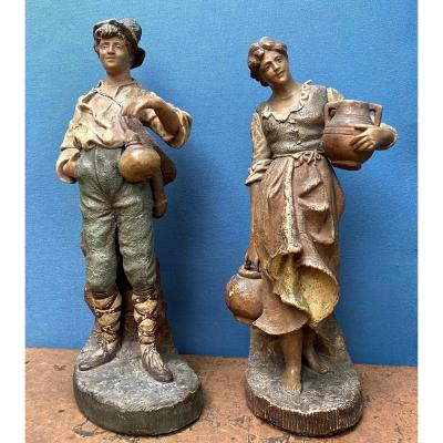 19th Goldscheider Statuette Couple