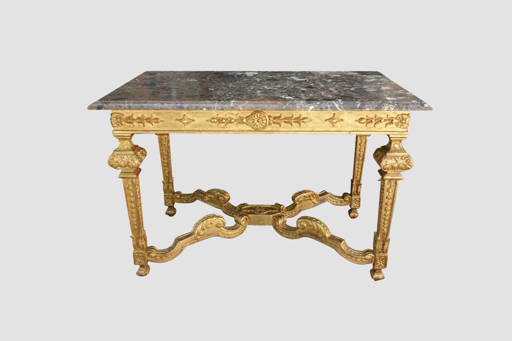 Table De Chasse En Bois Doré Style Louis XIV, XIXe  Tables