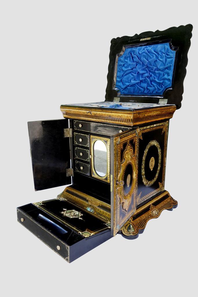 Cabinet De Voyage De Dame Avec écritoire