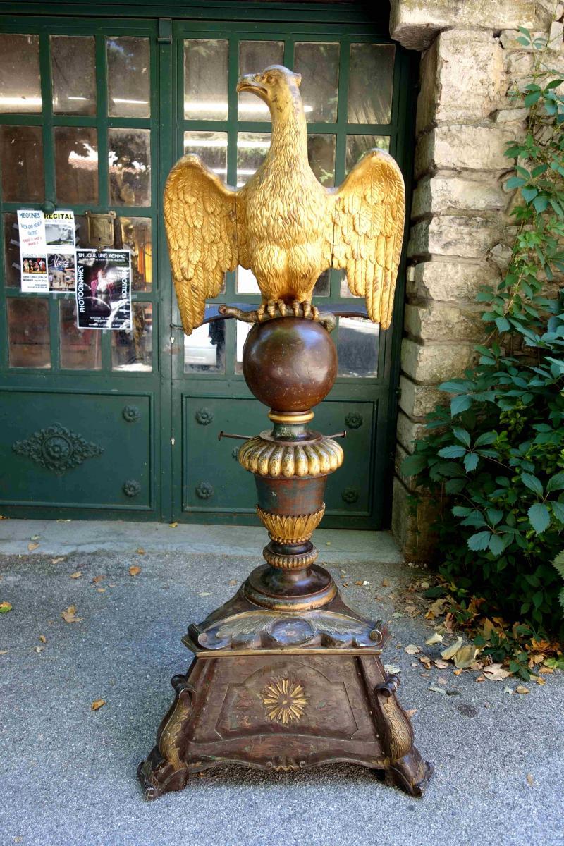 Grand Lutrin à L'aigle En Bois Doré, XVIIIe Siècle