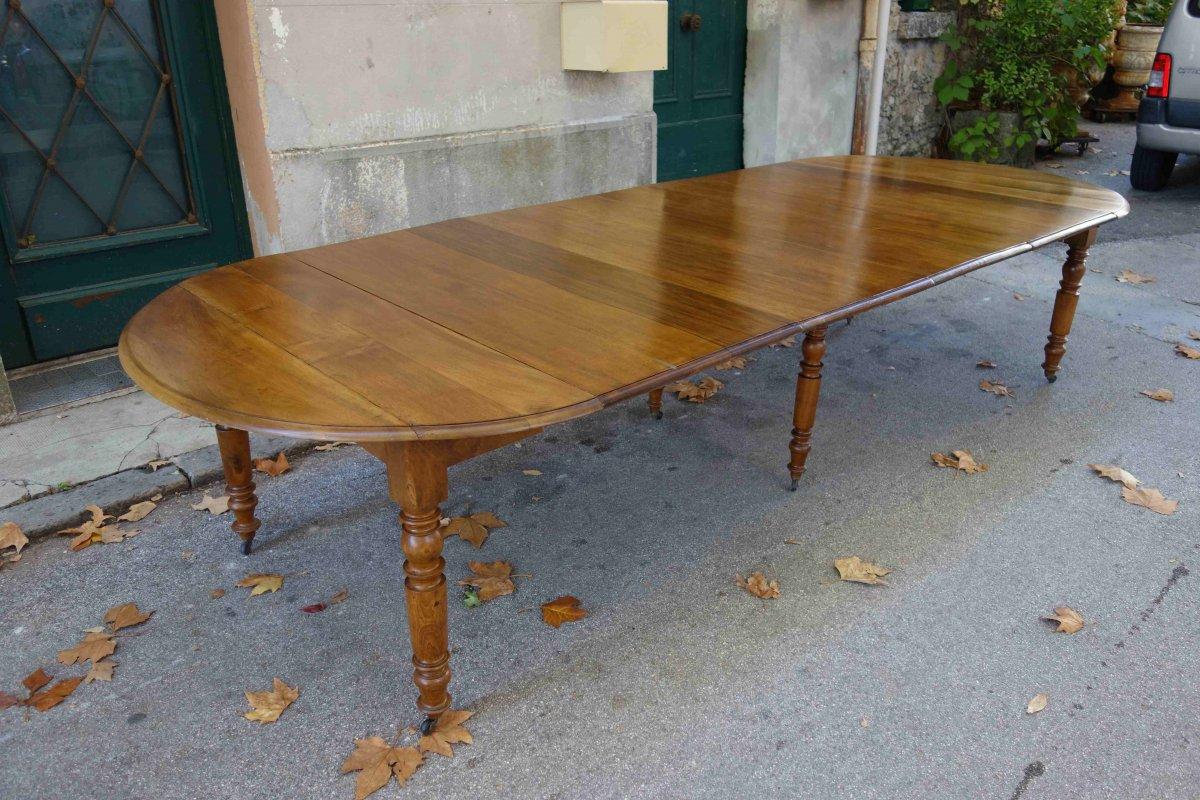Table Louis-philippe En Noyer, 330 Cm