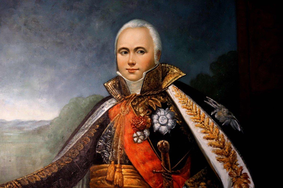 Grand Portrait En Pied Du Maréchal D'empire Victor, 235 Cm-photo-3