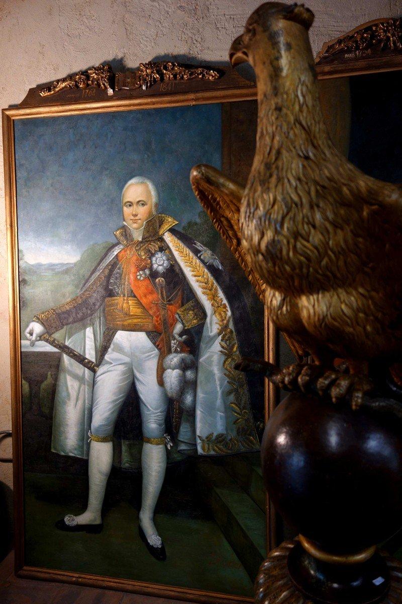 Grand Portrait En Pied Du Maréchal D'empire Victor, 235 Cm-photo-4