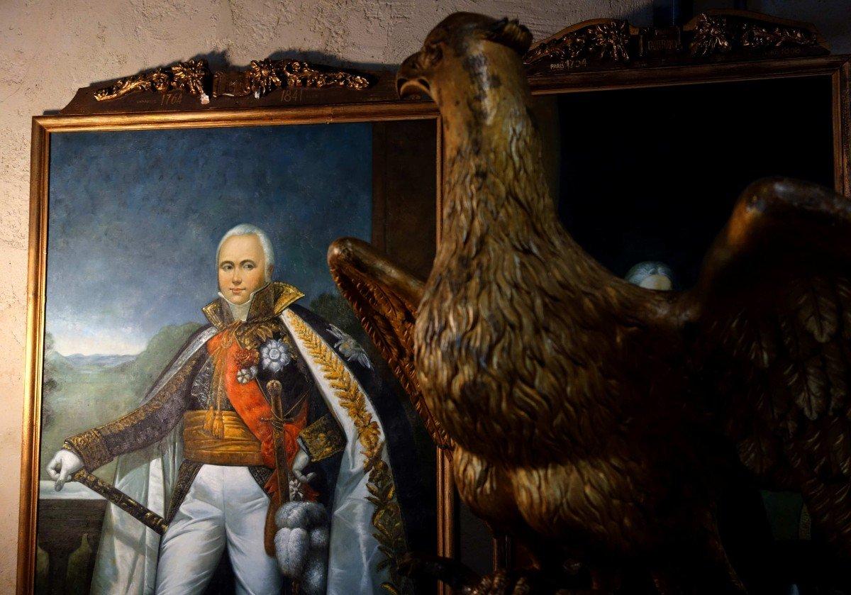 Grand Portrait En Pied Du Maréchal D'empire Victor, 235 Cm-photo-1