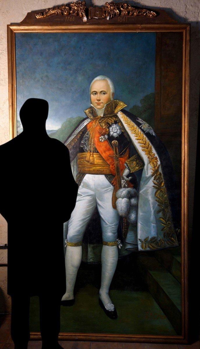 Grand Portrait En Pied Du Maréchal D'empire Victor, 235 Cm-photo-2