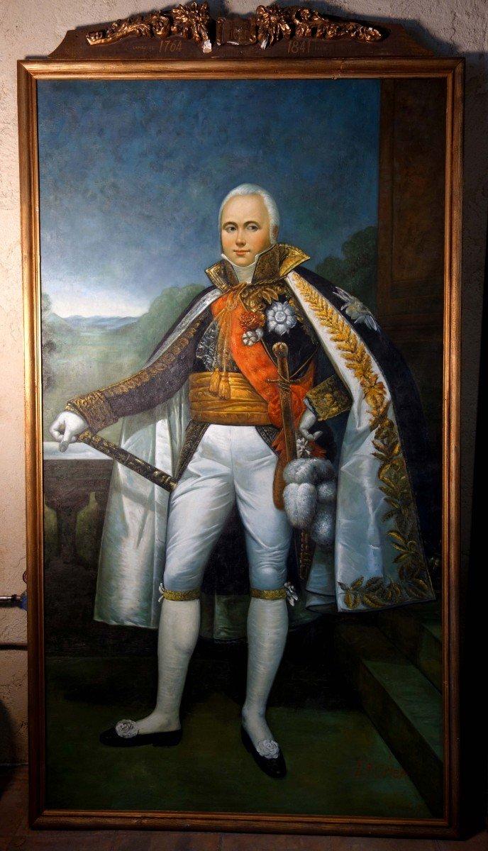 Grand Portrait En Pied Du Maréchal D'empire Victor, 235 Cm