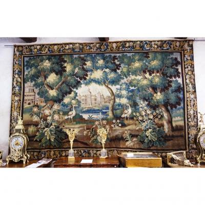 Large Aubusson Tapestry - Greenery For Waders, XVIII, 420 Cm
