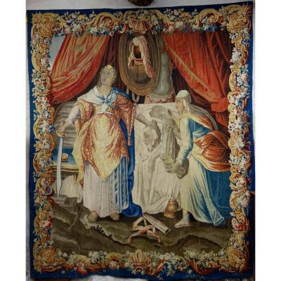Tapisserie Représentant Judith Et Holopherne, 17eme Siècle