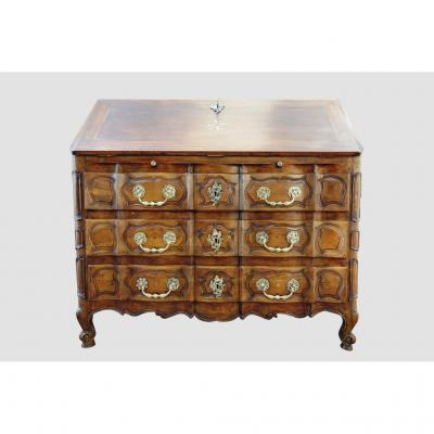 Scriban Provencal Walnut Desk, Eighteenth