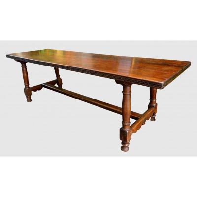 Large Walnut Community Table, 250 Cm, Eighteenth