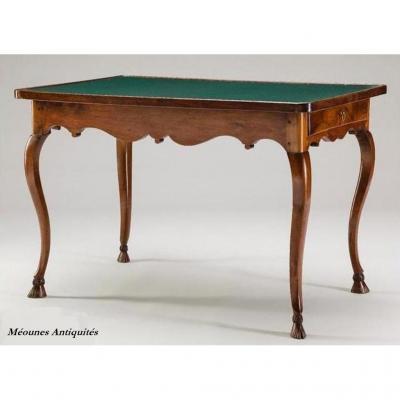 Table à Jeux En Noyer, Région Lyonnaise, XVIIIe Siècle