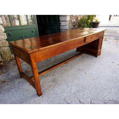 "Table De Ferme ""huche"" De 227 Cm, XVIIIe"