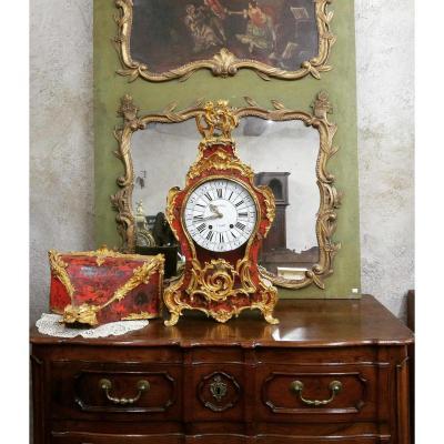 Grand Cartel En Vernis Martin Et Sa Console, 123 Cm, XVIIIe
