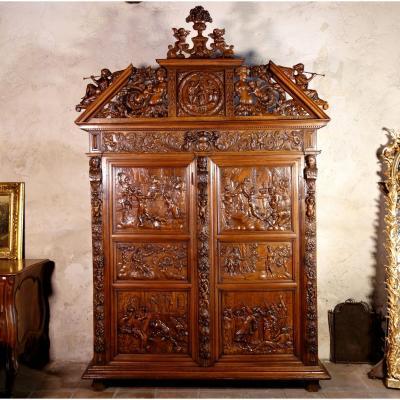 Armoire Biblique De Sumène : Histoire De Salomon, XVIIe
