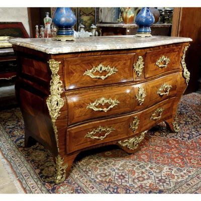 Large Commode Tombeau Estampillée Migeon, XVIIIe