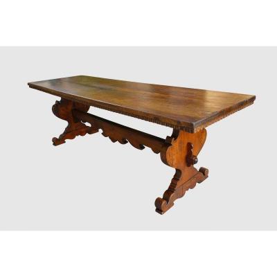 Italian Monastery Table, Late Seventeenth, 264 Cm