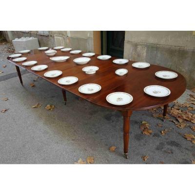 Table Louis-philippe En Acajou à 6 Pieds Jacob, 350 Cm