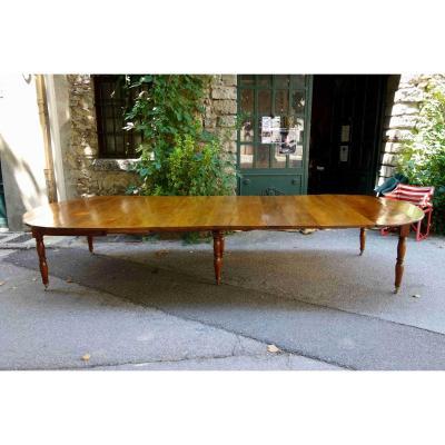 Table à Pieds Jacob En Noyer D'isère, Fin XVIIIe, 405 Cm