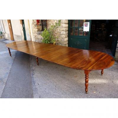 Table De Conférence Louis-philippe En Noyer, 5 Mètres 40