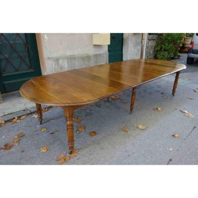 Table Louis-philippe En Noyer, 330 Cm