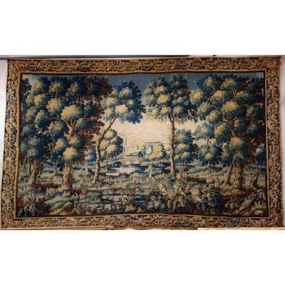 Great Aubusson Tapestry: Peacock Greenery, 450 Cm, XVIIIth Century