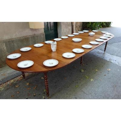 Louis-philippe Walnut Table, 370 Cm