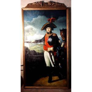 Grand Portrait En Pied Du Maréchal D'empire Sérurier, 235 Cm