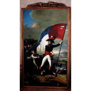Grand Portrait En Pied Du Maréchal D'empire Augereau, 235 Cm