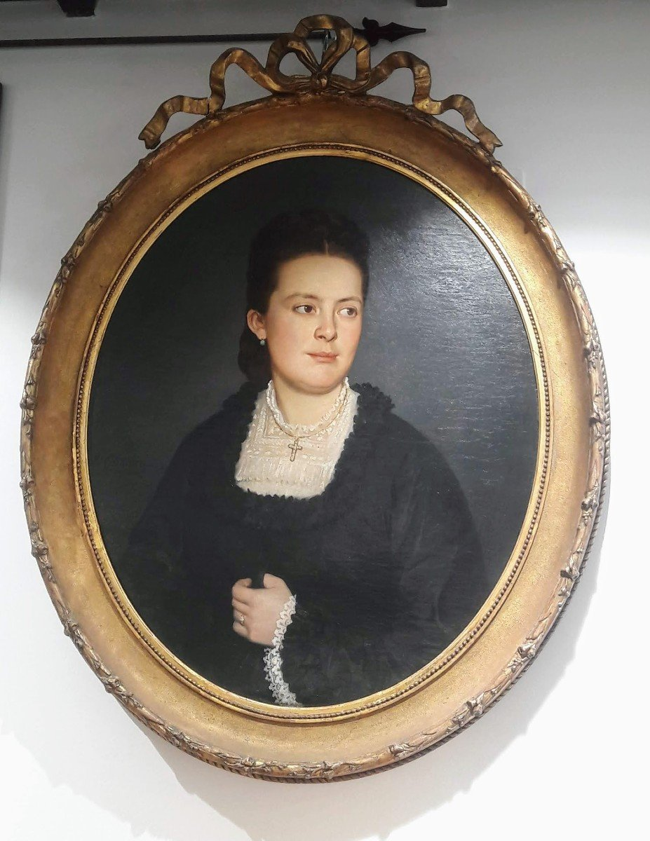 Portrait Of A Woman From The Nineteenth Century A. Cittadini