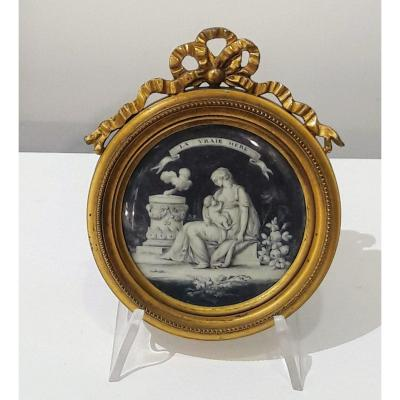 18th Century Grisaille Miniature