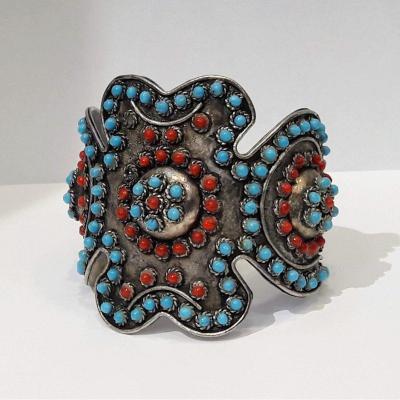 Bracelet Avec Corail Et Turquoise