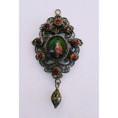 Painted Under Glass From The Eighteenth Century