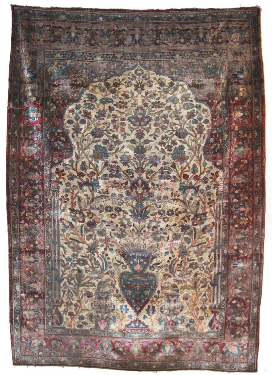 Tapis kashan Iran soie 185 x 130 cm