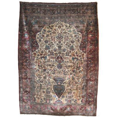 Kashan Carpet Iran Silk 185 X 130 Cm