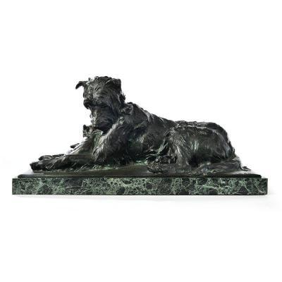 Sculpture En Bronze « Les Deux Amis » Signé Charles Paillet