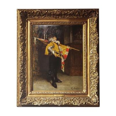 """the Standard Bearer"" Signed Ferdinand Roybet"