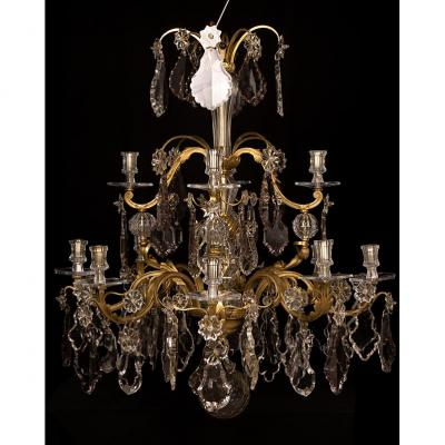 Lustre style Rococo du XIXE siècle  ~ 1880