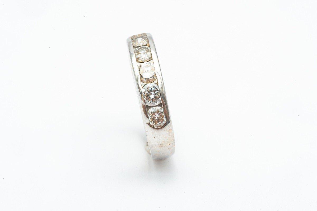 Bague De Fiançailles En Or Blanc 18 Carats Avec 8 Diamants De 0,16 Carats-photo-3