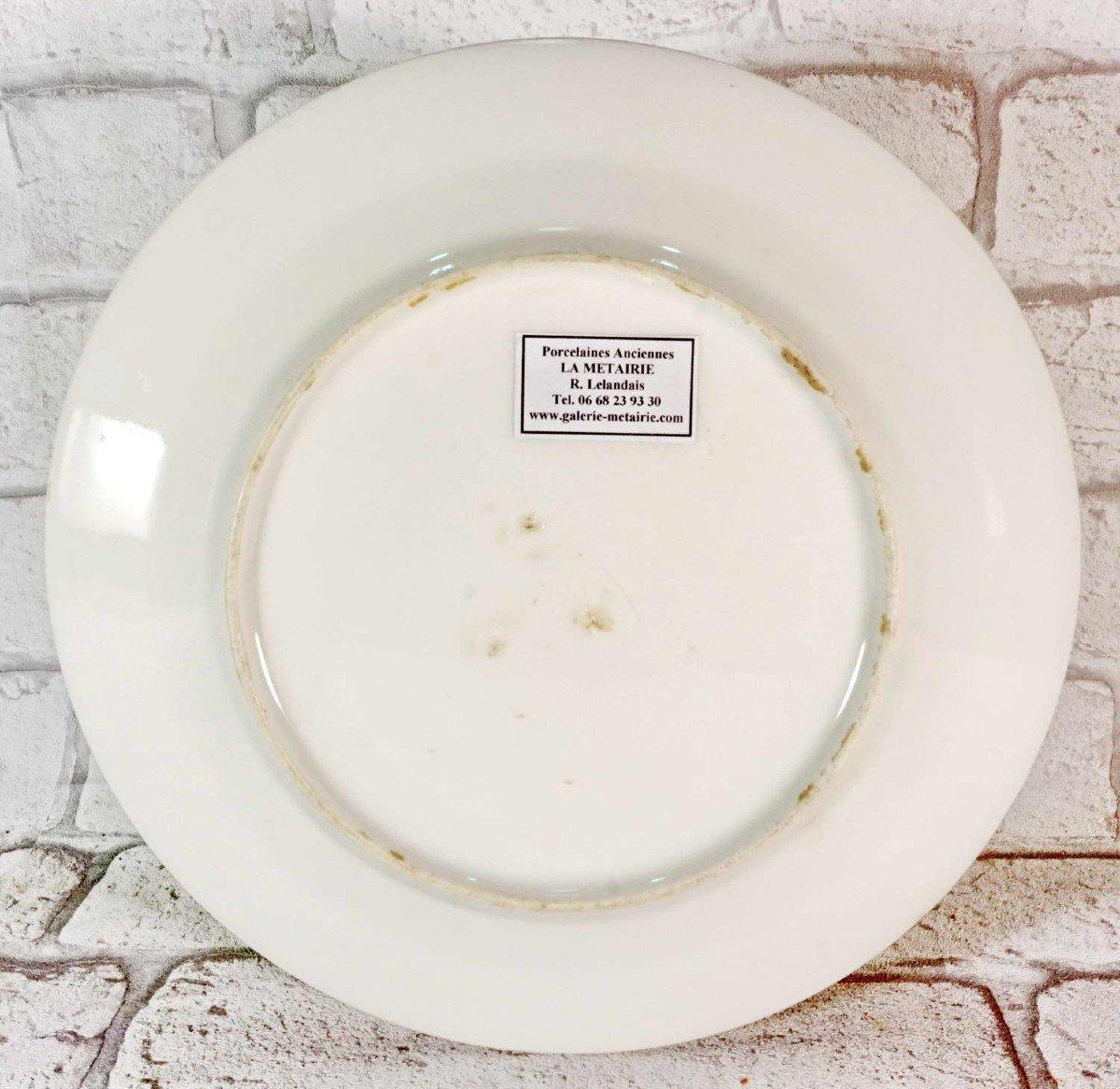 Assiette en Porcelaine de Paris - Franc Maçonnerie de Dunkerque - Ep. 1ere Moitie XIXe-photo-3