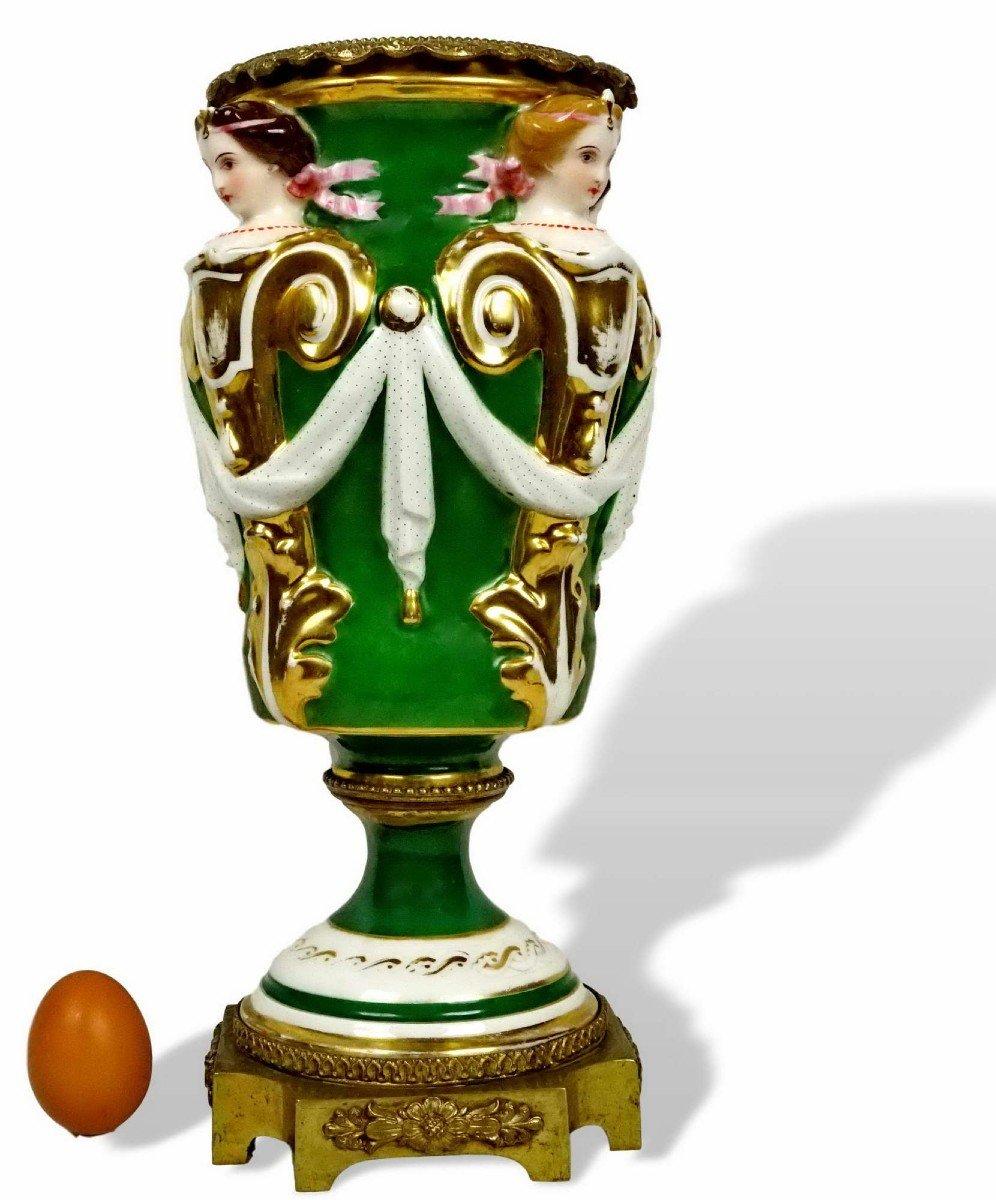 Grand Vase décoratif en Porcelaine de Paris ou Limoges - Ep.  XIXe
