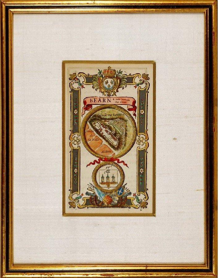 Gravure - Estampe du Château de Lourdes - (Hautes Pyrénées - 65) - Ep. XVIIIe