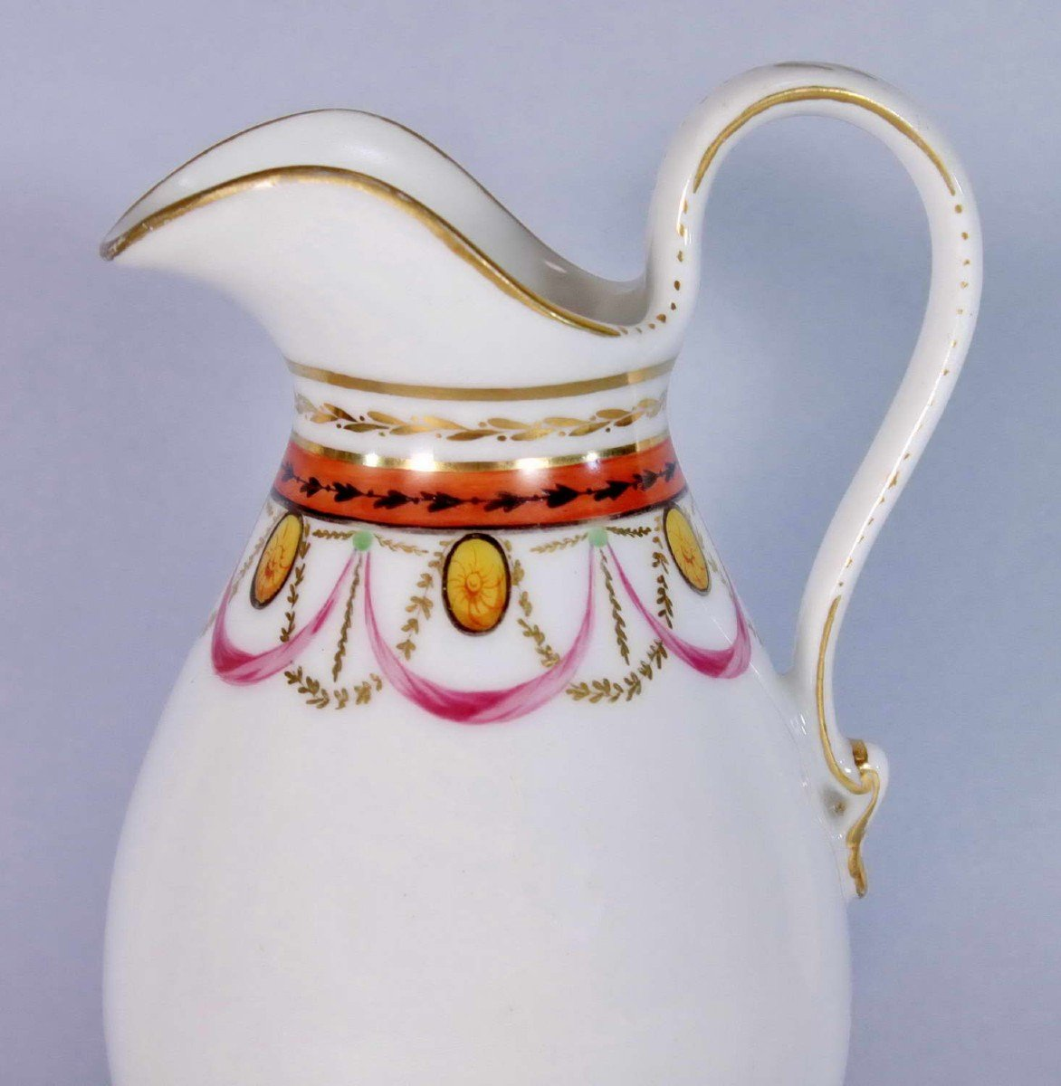 Pot à Lait en Porcelaine de Paris - Ep. XVIIIe - Louis XVI-photo-1