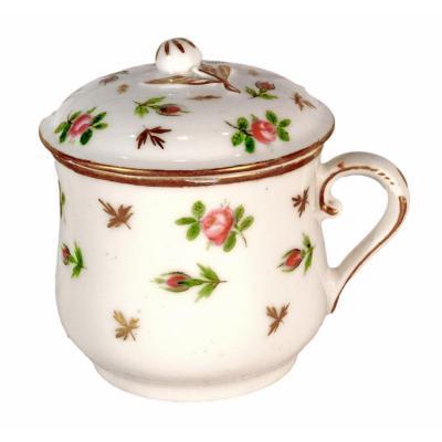Pot à Crème / Crémier en Porcelaine de Paris - Manufacture de Locre - Ep. XVIIIe - LOUIS XVI