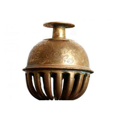 Bell Table Bell Bronze Decor Chiseled 1900