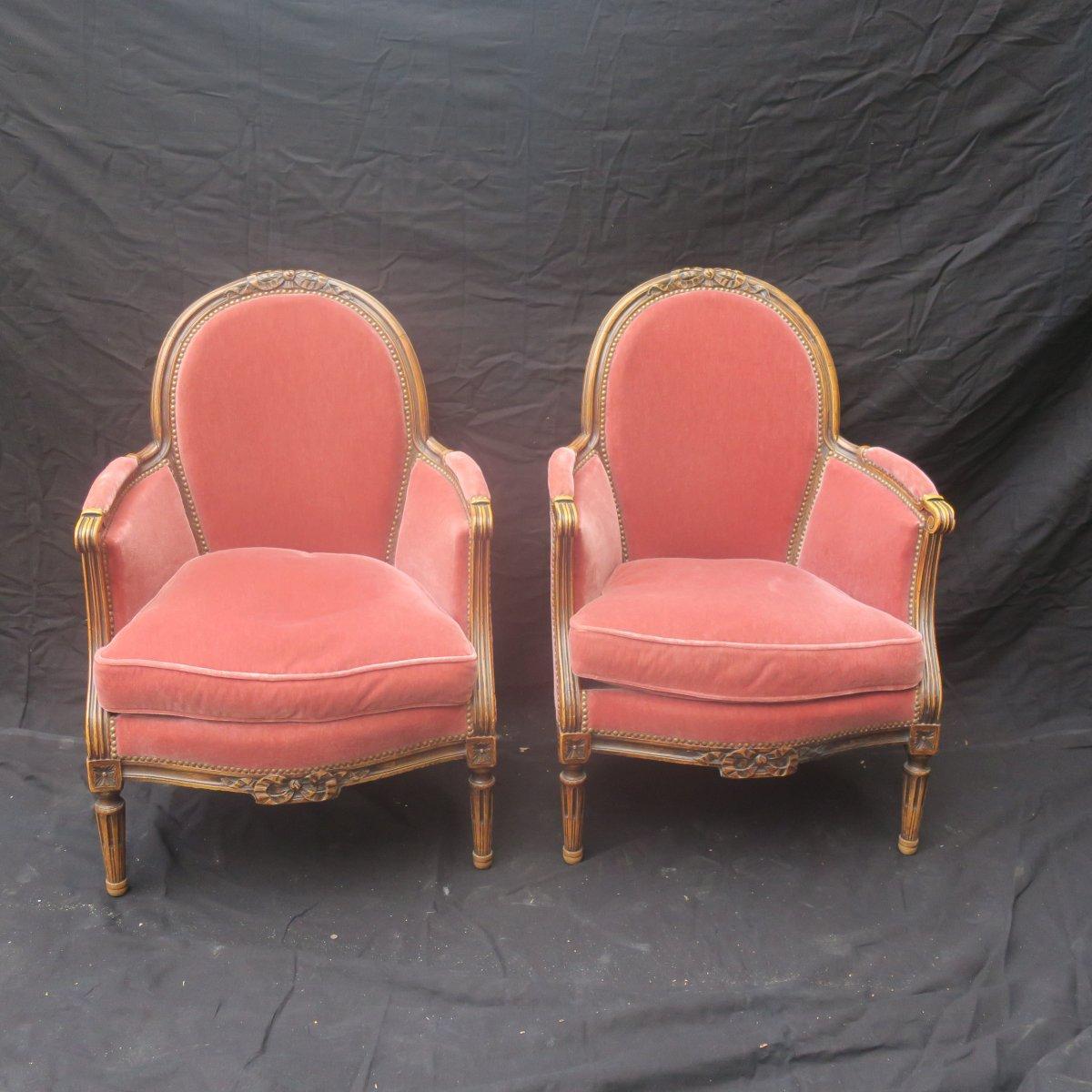 Bergères De Style Louis XVI