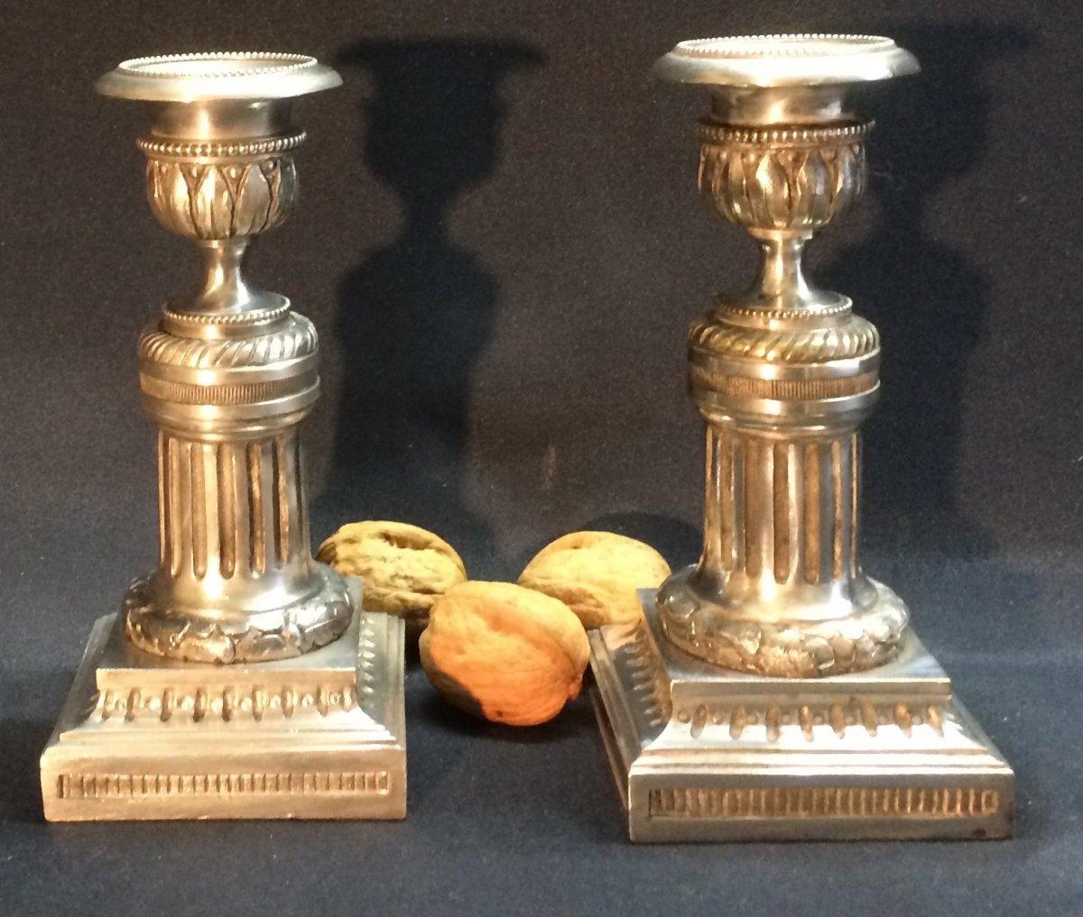 Pair Of Daubée Candlesticks