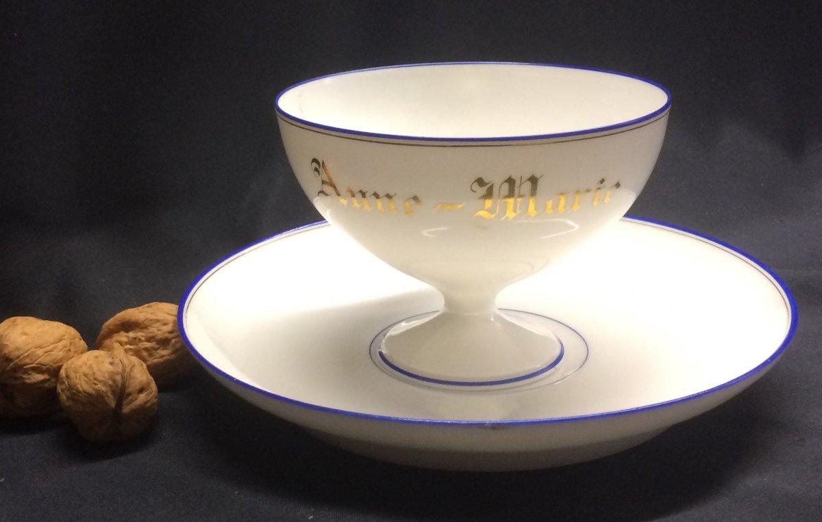 Tasse Et Sa Soucoupe En Porcelaine De Limoges